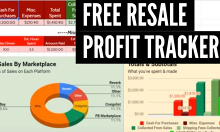 FREE Profit Tracker for reselling items from Facebook Marketplace, Craigslist, etc.